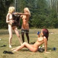Russian girls outdoor fun