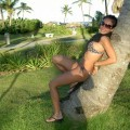 Amateur brunette model on vacation