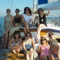 A bunch of milfs take a boat ride