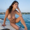 Mabelle in sail with me