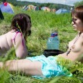 Naked nudist russian girls at a music festival