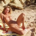 Ex-girlfriend poses nude on the beach