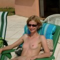 Cute skinny blonde nudist poses for her boyfriend