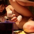Selfshot masturbating stacy