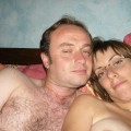 Couple - slim hairy wife