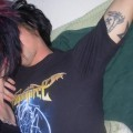 Kissing and fucking emo couple
