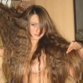 Nice girlfriend with long hairs