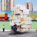 Overloaded bikes in china