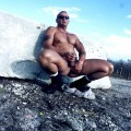 Hunk jerking off, more with me