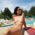 French brunette posing nude