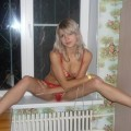 Cute blonde posing at home serie 56