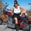 Smokin biker chick