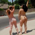 Chubby lesbians outdoors