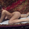 Cute russian brunette spreads her legs serie 165