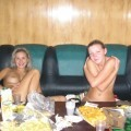 Amateur girls party in the sauna