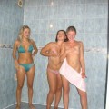 Russian 18yo teen girls having fun in the sauna