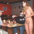 Nudist women do their work naked