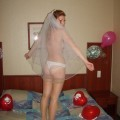 Just married - naked bride