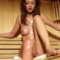 Anna s in the sauna
