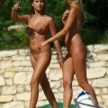 2 teen nudists with lovely tits