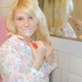 Blodne teen naked in bathroom
