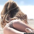 Courtney bingham topless bikini candids on the beach in malibu