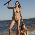 Linsey, katrin - snack on the beach