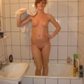 Pretty german takes a shower - redhead serie 22