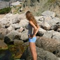 Irinka - beautiful young tits on beach - part 1