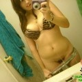 A busty teen bombshell took some sexy selfpics