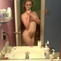 Horny emo teen girlfriend poses for some selfpics