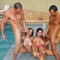 Latinas pool party