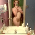 Cute ex girlfriend naked for self shots
