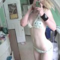 This horny emo teen girlfriend poses for some selfpics