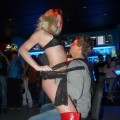 Party girls in club - strip show at party