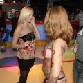 Party girls - bodypainting in disco club