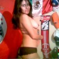Hot mexican teen posing at home