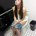 Teen enjoying a piss
