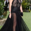 Charlize theron see through dress in snow white and the huntsman world premiere - celebrity