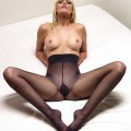 Blonde jane wears pantyhose but no panties