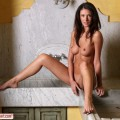 Sexy brunette orsi loves getting naked