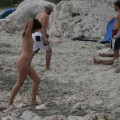 Amateur girls on beach 12