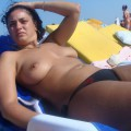 Amateur girls on beach 17