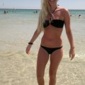 Nice blonde hot vacation beach pix