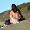 Amateur girls on beach 08