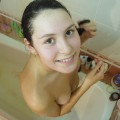 Sexy teen babe takes a shower 30