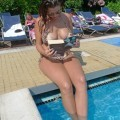 Imogen thomas - swimming pool in london - celebrity