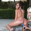 2 babe pool fun