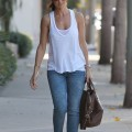 Minka kelly pokies in a white top - celebrity