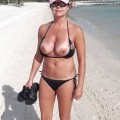 Tits on the beach
